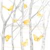 Alexandra Renke Designpapier Schmetterlinge im Birkenwald international