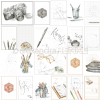 Alexandra Renke Designpapier Kärtchenbogen Reise for you