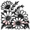 Wild Sunflowers Rubber Stamp