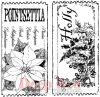 Holiday Tickets Rubber Stamp Pair