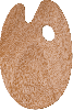 Houten palet ovaal 5mm. 25x35cm