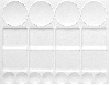 Kunststof palet rechthoekig 32,0x24,5cm, 20 napjes