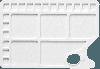Kunststof palet rechthoekig 34,5x23,5cm, 23 napjes