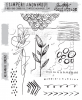 "Tim Holtz Cling Stamps 7""X8.5"" Media Marks #1"