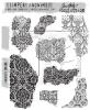 "Tim Holtz Cling Stamps 7""X8.5"" Fragments"