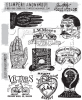 "Tim Holtz Cling Stamps 7""X8.5"" Eclectic Adverts"