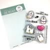 Gerda Steiner Valentine Penguins 4x6 Clear Stamp Set