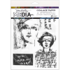 "Dina Wakley Media Collage Tissue Paper 7.5""X10"" 20/Pkg Vintage & Sketches"