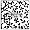 """Crafter's Workshop Template 6""""X6"""" - Leafy Branches"""