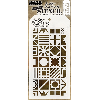"Tim Holtz Layered Stencil 4.125""X8.5"" Patchwork Cube"