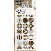 "Tim Holtz Layered Stencil 4.125""X8.5"" Patchwork Circle"