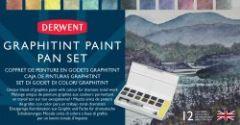 Derwent Graphitint Paint 12 Pan Palette