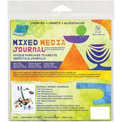 "Grafix Assorted Mixed Media Journal W/Discs 6""X6"""