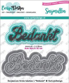 Carlijn Design Grote teksten 1 Bedankt