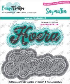 Carlijn Design Grote teksten 2 Hoera