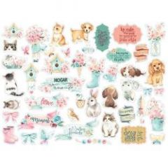 Stamperia Circle of Love Cats, dogs and embellishments die cuts