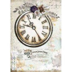 Stamperia Rice Paper A4 Romantic Journal Clock