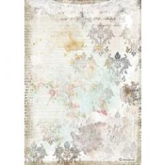 Stamperia Rice Paper A4 Romantic Journal Texture With Lace