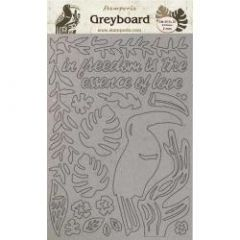 Stamperia Greyboard A4 Amazonia Toucan
