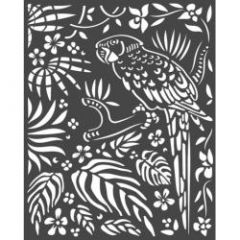 Stamperia Thick Stencil 20x25cm Amazonia Parrot