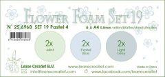 LeCrea - Flower Foam set 19 6 vl 3x2 Pastel 4. A4