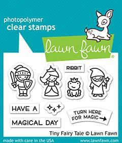 Lawn Fawn 2x3 clear stamp set tiny fairy tale