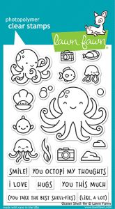 Lawn Fawn 4x6 clear stamp set ocean shell-fie