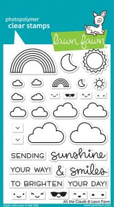 Lawn Fawn 4x6 clear stamp set all the clouds