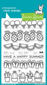 Lawn Fawn 4x6 clear stamp set simply celebrate summer
