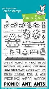 Lawn Fawn 4x6 clear stamp set crazy antics