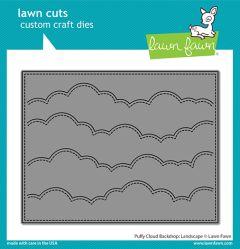 Lawn Fawn custom craft dies puffy cloud backdrop: landscape