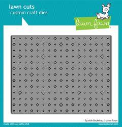 Lawn Fawn custom craft dies sparkle backdrop