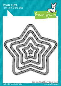 Lawn Fawn custom craft dies just stitching stars