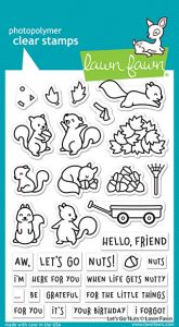 Lawn Fawn 4x6 clear stamp set let's go nuts
