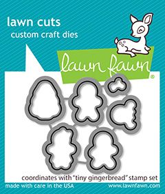 Lawn Fawn custom craft dies tiny gingerbread  - lawn cuts