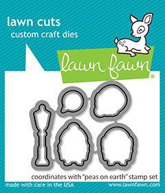 Lawn Fawn custom craft dies peas on earth - lawn cuts