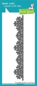 Lawn Fawn custom craft dies snowflake border