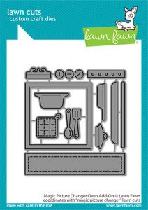 Lawn Fawn custom craft dies magic picture changer oven add-on