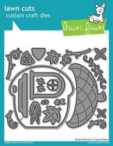 Lawn Fawn custom craft dies acorn house