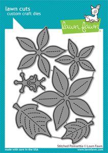 Lawn Fawn custom craft dies stitched poinsettia