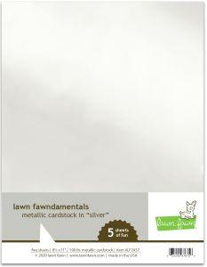 Lawn Fawn lawn fawndamentals metallic cardstock - silver