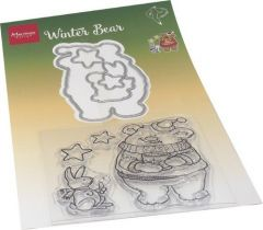 Marianne D Clear Stamp & die set Hetty's Winter beer 120x205mm