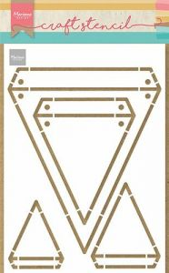 Marianne Design Craft Stencil - Vlaggen A5