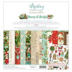 Mintay 12 X 12 PAPER SET - MERRY & BRIGHT