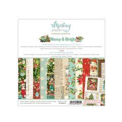 Mintay 6 X 6 PAPER PAD - MERRY & BRIGHT