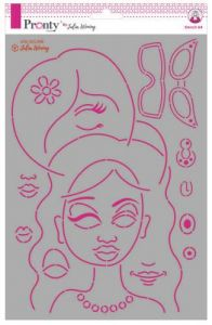 Pronty Stencil Journal Faces  Julia Woning