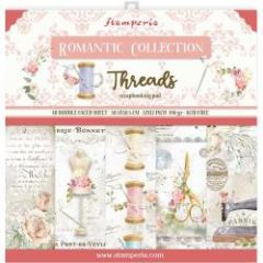 Stamperia Romantic Threads 12x12 Inch Paper Pack
