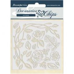 Stamperia Decorative Chips Passion Roses