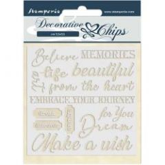 Stamperia Decorative Chips Atelier des Arts Quotes