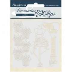 Stamperia Decorative Chips Threads Couture
